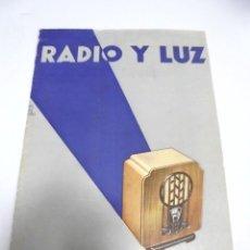Catálogos publicitarios: RADIO Y LUZ. REVISTA PHILIPS. ABRIL - MAYO 1933. MADRID AÑO III. Lote 171319113
