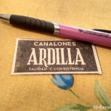Catálogos publicitarios: ANTIGUO ANUNCIO PUBLICIDAD REVISTA CANALONES ARDILLA ESPECIAL PARA ENMARCAR. Lote 171331567