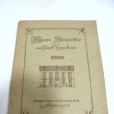 Catálogos publicitarios: MUSEO ROMANTICO Y LEGADO VALLE-INCLAN. GUIA. MAYO 1945. Lote 171495502