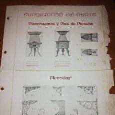 Catálogos publicitarios: FUNDICIONES DEL NORTE . Lote 171547790