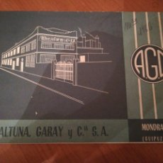 Catálogos publicitarios: ALTUNA, GARAY. TIJERAS, FERRETERÍA E INSTRUMENTAL QUIRÚRGICO. . Lote 171546912