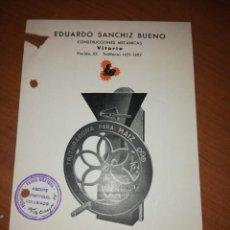 Catálogos publicitarios: EDUARDO SANCHIZ BUENO. TRITURADORA PARA MAÍZ Y HABAS. Lote 171549125