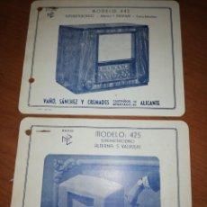 Catálogos publicitarios: BAÑÓ, SÁNCHEZ Y CREMA DES. ALICANTE. RADIOS DE BALBULAS. . Lote 171549359