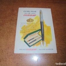 Catálogos publicitarios: PUBLICIDAD 1951: PLUMA EVERSHARP . Lote 171752734