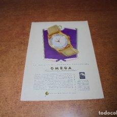 Catálogos publicitarios: PUBLICIDAD 1951: RELOJ OMEGA - MUM CREMA. Lote 171753797