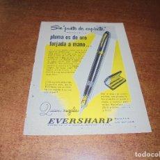 Catálogos publicitarios: PUBLICIDAD 1952: PLUMA EVERSHARP - MÁQUINA DE ESCRIBIR SMITH-CORONA. Lote 171775464