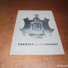 Catálogos publicitarios: PUBLICIDAD 1952: YARDLEY ENGLISH LAVENDER - AMERICAN-STANDARD BAÑOS. Lote 171775538