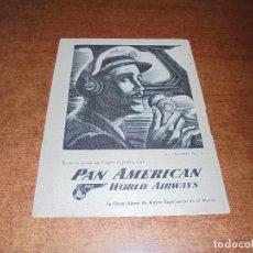 Catálogos publicitarios: PUBLICIDAD 1952: PAN AMERICAN WORLD AIRWAYS - MONSANTO QUÍMICO Y PLÁSTICOS. Lote 171775604