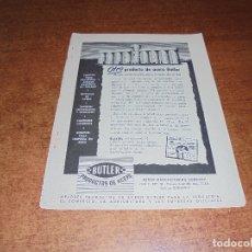 Catálogos publicitarios: PUBLICIDAD 1952: PRODUCTOS DE ACERO BUTLER - WARNER'S FAJAS Y BRASSIERES. Lote 171775673