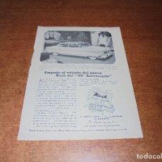 Catálogos publicitarios: PUBLICIDAD 1952: AUTOMOVIL NASH 50 ANIVERSARIO DISEÑADO POR PININ FARINA - ESTERBROOK PLUMAS. Lote 171775860