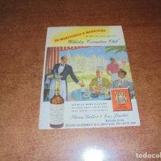 Catálogos publicitarios: PUBLICIDAD 1952: CANADIAN CLUB - REFRIGERADOR ELÉCTRICO RCA. Lote 171775963