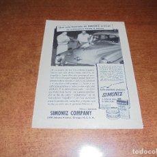Catálogos publicitarios: PUBLICIDAD 1952: LUSTRADOR SIMONIZ - RELOJ MIDO (SUIZA). Lote 171776034