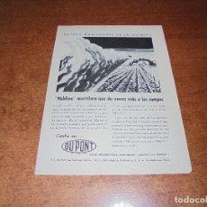 Catálogos publicitarios: PUBLICIDAD 1952: NEBLINA MORTÍFERA INSECTICIDA DU PONT - ALUMINIO REYNOLDS METALS COMPANY. Lote 171776179