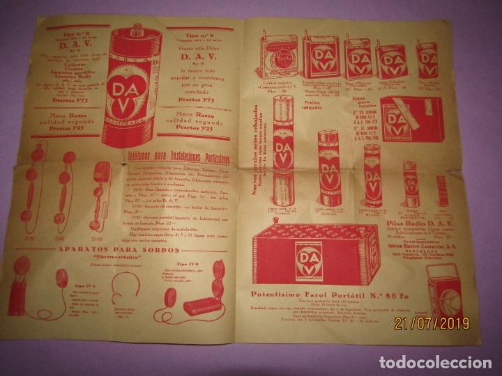 Catálogos publicitarios: Antiguo Catálogo de Material Eléctrico, Pilas y Accesorios para Bicicletas IBÉRICA ELECTRO-COMERCIAL - Foto 2 - 171821008