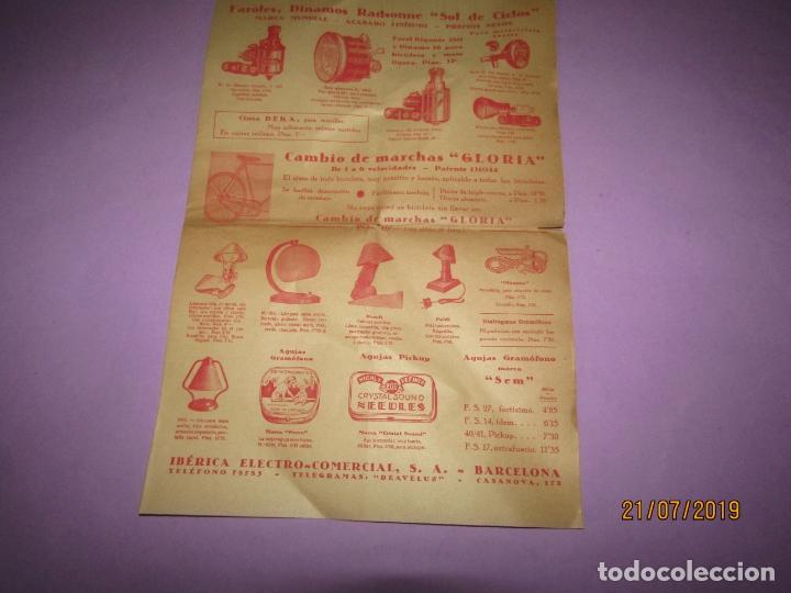 Catálogos publicitarios: Antiguo Catálogo de Material Eléctrico, Pilas y Accesorios para Bicicletas IBÉRICA ELECTRO-COMERCIAL - Foto 3 - 171821008