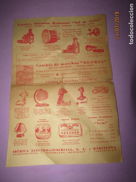 Catálogos publicitarios: Antiguo Catálogo de Material Eléctrico, Pilas y Accesorios para Bicicletas IBÉRICA ELECTRO-COMERCIAL - Foto 4 - 171821008