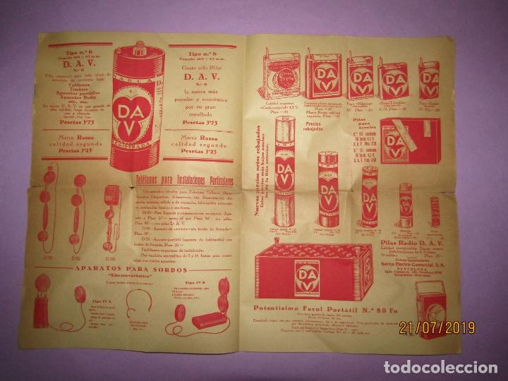 Catálogos publicitarios: Antiguo Catálogo de Material Eléctrico, Pilas y Accesorios para Bicicletas IBÉRICA ELECTRO-COMERCIAL - Foto 5 - 171821008