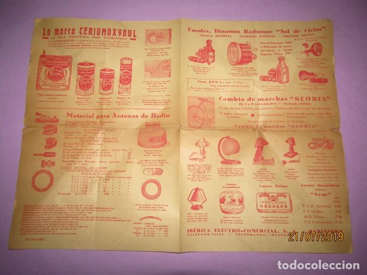 ANTIGUO CATÁLOGO DE MATERIAL ELÉCTRICO, PILAS Y ACCESORIOS PARA BICICLETAS IBÉRICA ELECTRO-COMERCIAL (Coleccionismo - Catálogos Publicitarios)