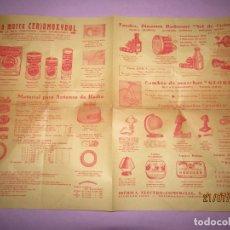 Catálogos publicitarios: ANTIGUO CATÁLOGO DE MATERIAL ELÉCTRICO, PILAS Y ACCESORIOS PARA BICICLETAS IBÉRICA ELECTRO-COMERCIAL. Lote 171821008