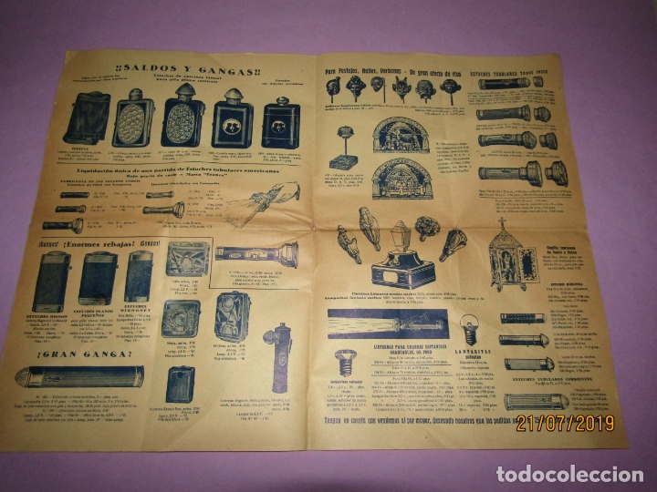 Catálogos publicitarios: Antiguo Catálogo de Linernas y Faroles para Bicicletas y de Mano IBÉRICA ELECTRO-COMERCIAL S.A. - Foto 2 - 171821589