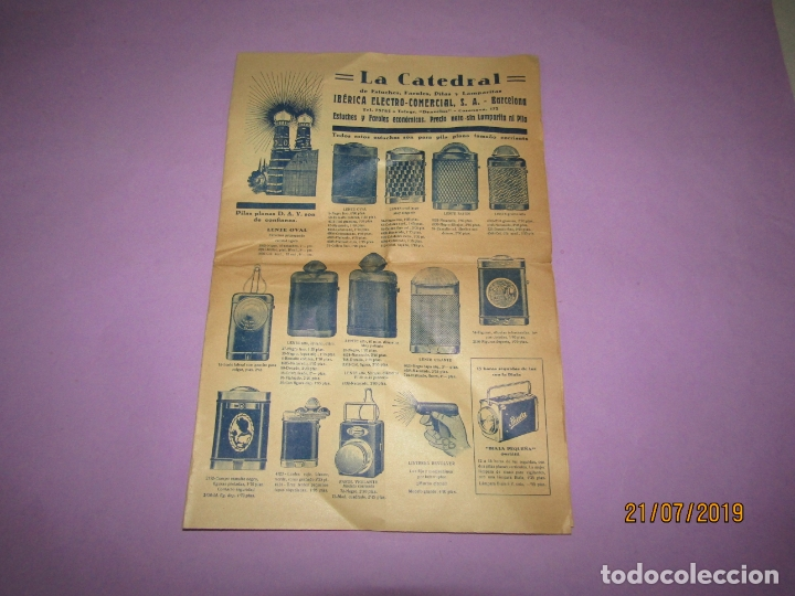 Catálogos publicitarios: Antiguo Catálogo de Linernas y Faroles para Bicicletas y de Mano IBÉRICA ELECTRO-COMERCIAL S.A. - Foto 4 - 171821589