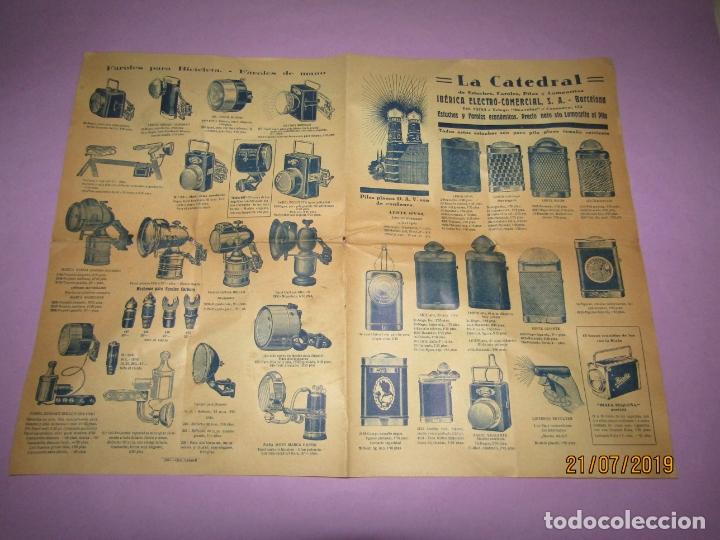 ANTIGUO CATÁLOGO DE LINERNAS Y FAROLES PARA BICICLETAS Y DE MANO IBÉRICA ELECTRO-COMERCIAL S.A. (Coleccionismo - Catálogos Publicitarios)
