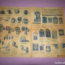 Catálogos publicitarios: ANTIGUO CATÁLOGO DE LINERNAS Y FAROLES PARA BICICLETAS Y DE MANO IBÉRICA ELECTRO-COMERCIAL S.A.. Lote 171821589