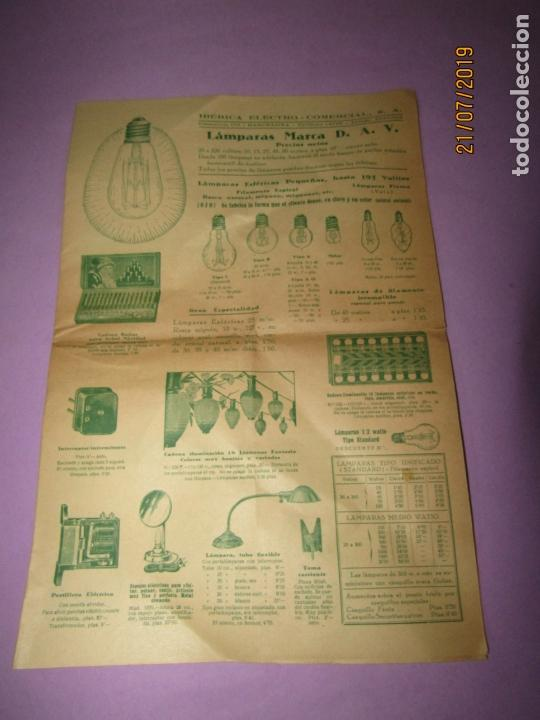 Catálogos publicitarios: Antiguo Catálogo de Pequeño Material Eléctrico y Lámparas de LÁMPARAS MARCA D.A.V. - Foto 2 - 171821775