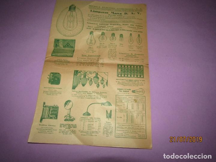 Catálogos publicitarios: Antiguo Catálogo de Pequeño Material Eléctrico y Lámparas de LÁMPARAS MARCA D.A.V. - Foto 3 - 171821775