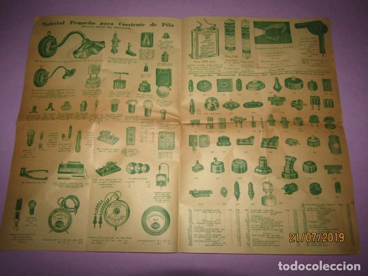 ANTIGUO CATÁLOGO DE PEQUEÑO MATERIAL ELÉCTRICO Y LÁMPARAS DE LÁMPARAS MARCA D.A.V. (Coleccionismo - Catálogos Publicitarios)