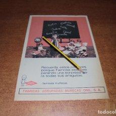 Catálogos publicitarios: PUBLICIDAD JUGUETE 1966: FÁBRICA AGRUPADAS MUÑECAS ONIL S.A. (F.A.M.O.S.A.) FAMOSA. Lote 171832240