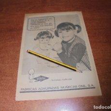 Catálogos publicitarios: PUBLICIDAD JUGUETE 1966: MUÑECA GRASITAS. FÁBRICA AGRUPADAS MUÑECAS ONIL S.A. (FAMOSA). Lote 171833600