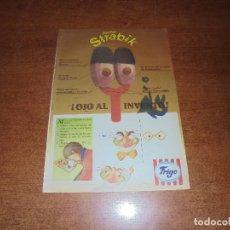 Catálogos publicitarios: PUBLICIDAD 1991: HELADOS FRIGO. DOCTOR STRABIK.. Lote 172121129
