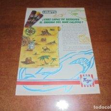 Catálogos publicitarios: .PUBLICIDAD 1990: CALIPPO. HELADOS FRIGO.. Lote 172187613