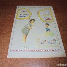 Catálogos publicitarios: PUBLICIDAD 1967: MUÑECAS FAMOSA: TUNO (FABRICAS AGRUPADAS DE MUÑECAS ONIL S.A.). Lote 172377578