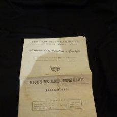Catálogos publicitarios: AÑOS 1930. FOLLETO PIENSOS AVICULTURA Y GANADERIA, HIJOS ABEL FERNANDEZ .VALLADOLID. Lote 172457013