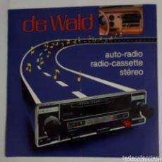Catálogos publicitarios: DE WALD. AUTO-RADIO. CATÁLOGO. 1977. Lote 172657330