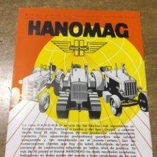 Catálogos publicitarios: PROSPECTO CATALOGO HANOMAG - KV 50 - R 40 - R 25 - EN ESPAÑOL. Lote 172711775
