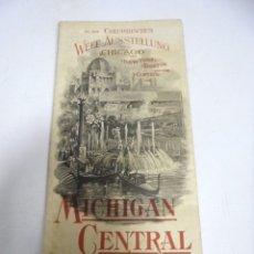 Catálogos publicitarios: FOLLETO TURISTICO. MICHIGAN CENTRAL. THE NIAGARA FALLS ROUTE. VER. Lote 172753819
