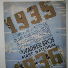 Catálogos publicitarios: CATÁLOGO WARNER BROS 1935-1936. Lote 172985514