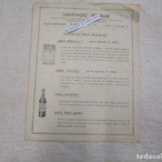 Catálogos publicitarios: PUBLICIDAD BARNICES PARA MUEBLES - SANTIAGO BOLIBAR DE BARCELONA,DOBLE CARA 28X22CM + INFO 1S. Lote 173032503