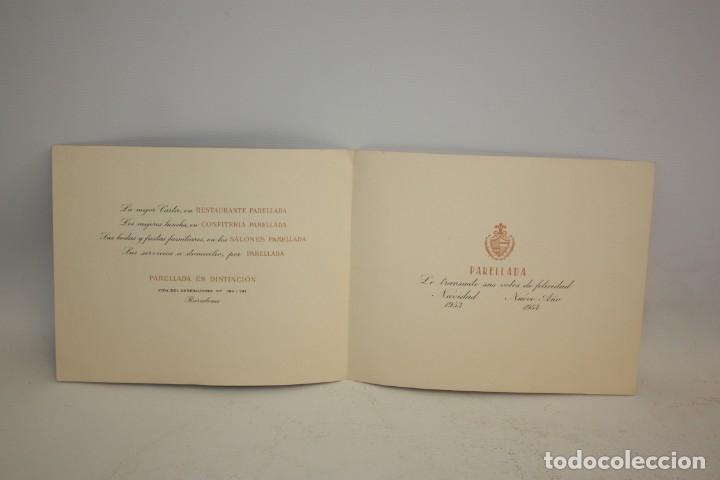 Catálogos publicitarios: RESTAURANTE PARELLADA - FELICITACIÓN DE NAVIDAD - GRAU SALA 53 - PARIS. - Foto 3 - 173099887