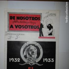Catálogos publicitarios: TRES GUIAS ORIGINALES PUBLICITARIAS - MGM 1932-1933. Lote 173113120