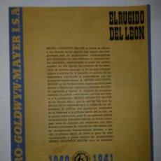 Catálogos publicitarios: GUIA ORIGINAL PUBLICITARIA - MGM 1940-1941. Lote 173115043