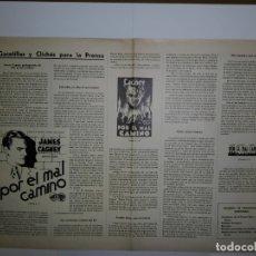 Catálogos publicitarios: CINCO GUIAS PUBLICITARIAS WARNER AÑOS 30. Lote 173183284
