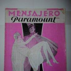 Catálogos publicitarios: CATÁLOGO PUBLICITARIO MENSAJERO PARAMOUNT - MARZO DE 1930. Lote 173190883