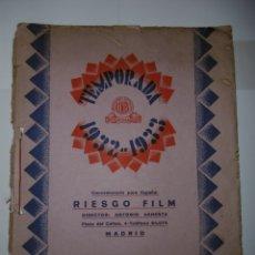 Catálogos publicitarios: CATÁLOGO PUBLICITARIO RIESGO FILM 1932-1933. Lote 173368760