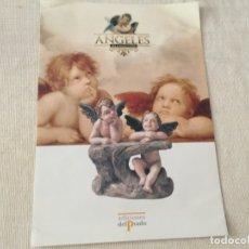 Catálogos publicitarios: PRESENTACIÓN DESPLEGABLE DE LA OBRA ANGELES DE COLECCION EDICIONES DEL PRADO JOSE LUIS MAYO LEBRIJA. Lote 173437832