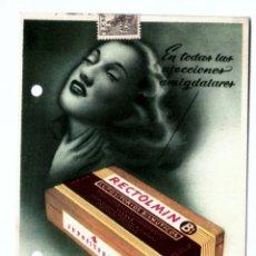 Catálogos publicitarios: PROSPECTO PUBLICITARIO MEDICAMENTO. RECTOLMIN. LABORATORIO FRUMTOST. BARCELONA. Lote 173494320
