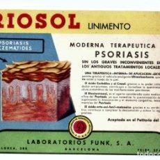 Catálogos publicitarios: PROSPECTO PUBLICITARIO MEDICAMENTO. RIOSOL. LABORATORIO FUNK. BARCELONA. Lote 173494680